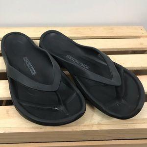 Birkenstock black flip flops